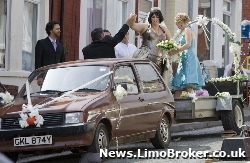 Gavin and Stacey stars board their unique wedding car