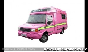 Pink Ambulance Limo