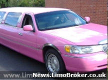 Pink limo ride to the kiddies pamper parlour offered by Essex beauty salon