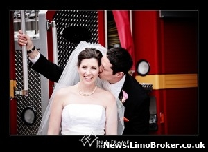 Fire engine serves as wedding car hire