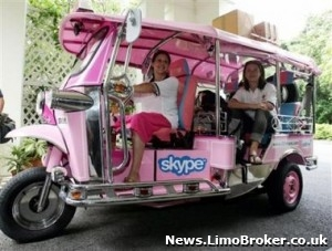 A pink rickshaw is the new wedding car