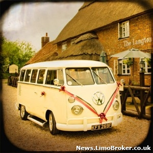 VW Camper Van provides the wedding car hire for one Scottish couple