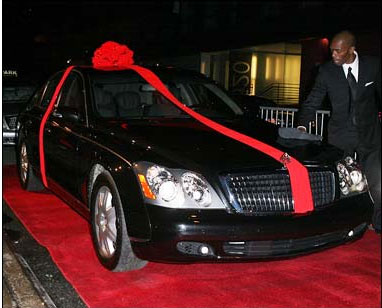 P Diddy treats teenage son to Maybach Limo