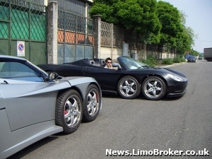 The Ferrari Limo Covini S 6 Wheel Sports Car And Other
