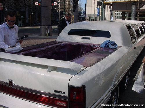 Stretch limo with onboard Jacuzzi goes under the hammer