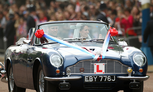 Prince William And Kate Middleton Aston Martin