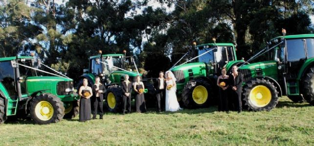 Tractor Wedding