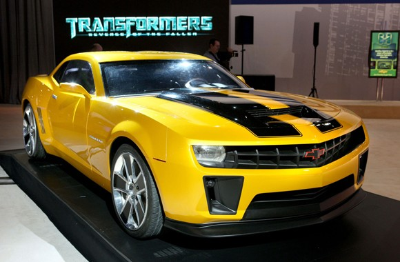 Limo replica of the Transformers Bumblebee Camaro available to hire in the US and Oz