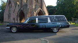 Gothic hearse limo makes TV appearance alongside Alice Cooper