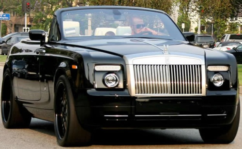 David Beckham Rolls Royce Drophead Phantom