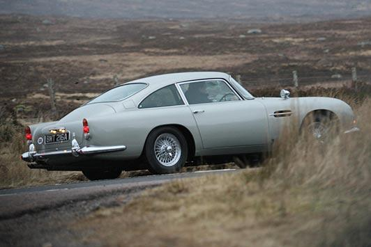 Aston Martin DB5 spotted during James Bond filming in Scotland