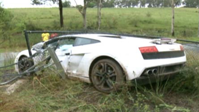 Lamborghini Wedding Car Crash