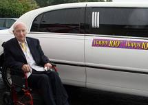 Former mechanic celebrates 100th birthday in style with limo hire