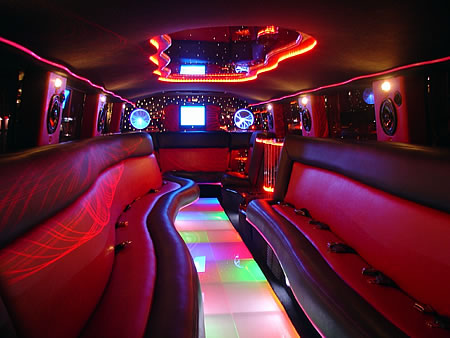 Hummer Limo Interior Black