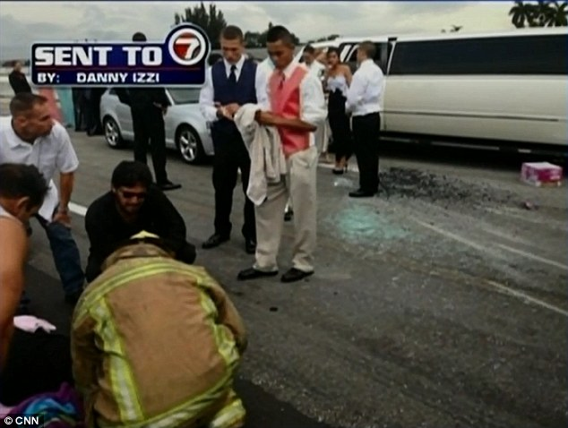 Teens stop their limo to help crash victims