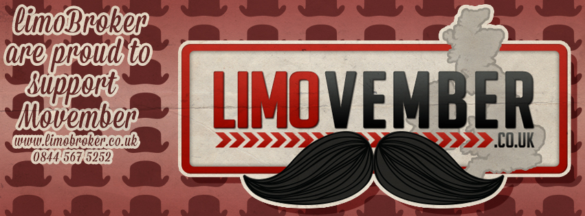 Limo Broker supports the Movmeber charity throughout the month