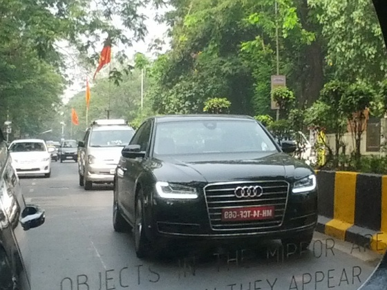 The 2014 Audi A8 limousine facelift has been seen in Mumbai