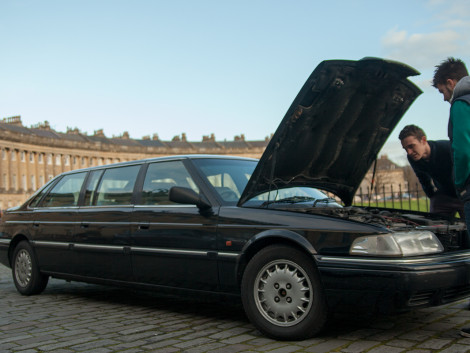 Four Charitable Men Drive 20 Year Old Rover Stretch Limousine From London to Mongolia