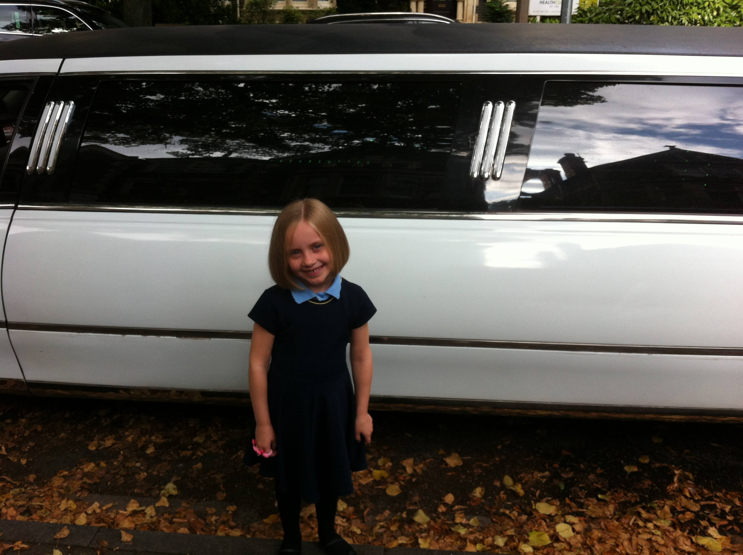 5-Year-Old Girl Enjoys Limo Ride After Donating Her Hair to the Little Princess Trust