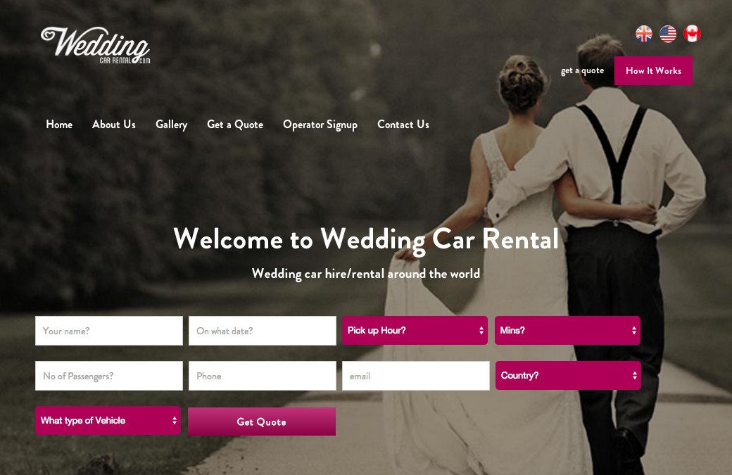Transport Broker Group goes International with www.weddingcarrental.com