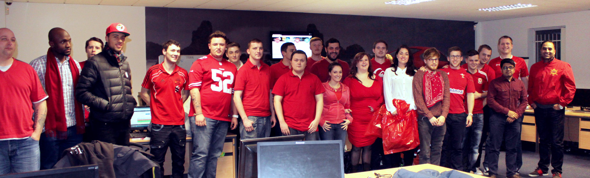 Limo Broker Staff Wear Red for British Heart Foundation 'Wear it, Beat it' Campaign