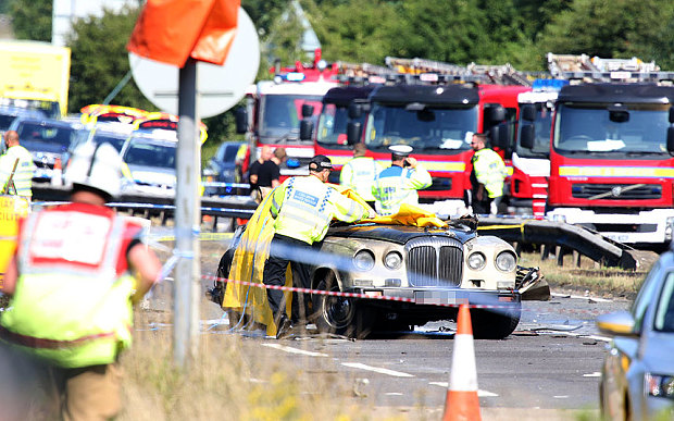 Shoreham Air Show: Plane crashes into Wedding Car