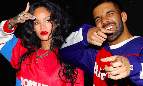 Drake and Rhianna party in limo