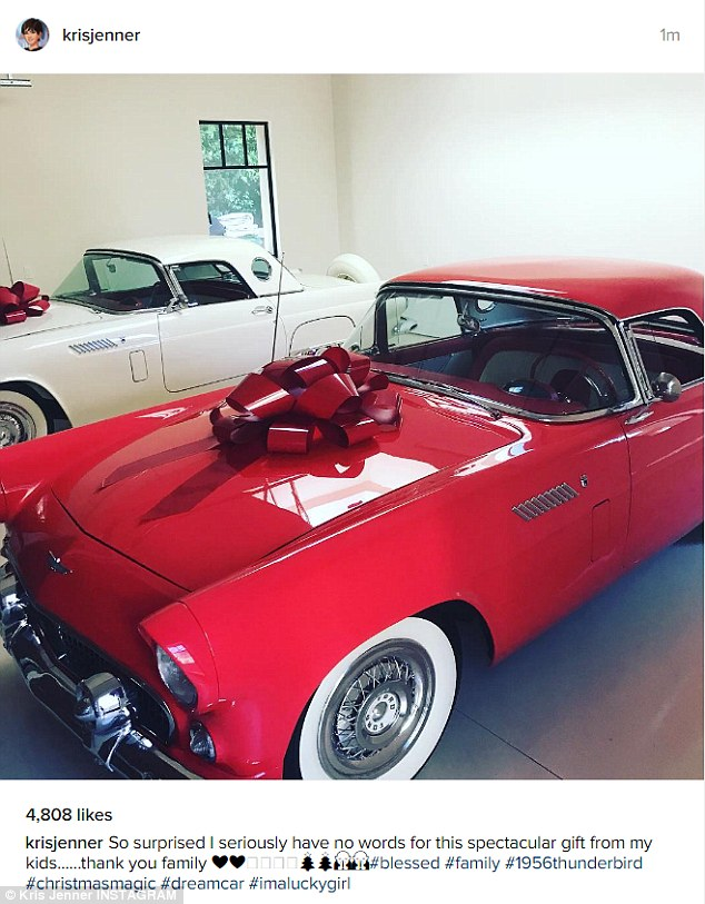 The Kardashians splurge on vintage cars for Christmas