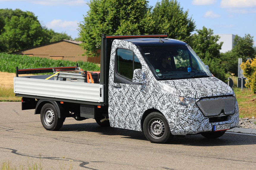 Mercedes Sprinter van spied during assessment