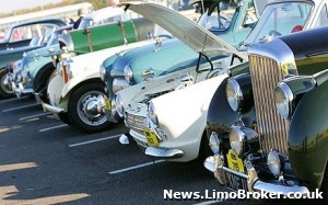 Vintage limos on display at Norwich rally