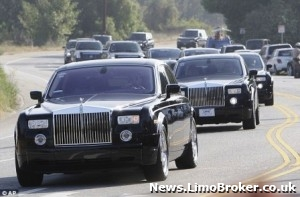 Rolls Royce limos for Jackson's funeral