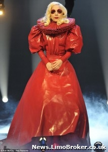 Lady Gaga opts for regal inspired outfit as she performs for the Queen