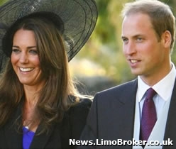 Prince William and Kate Middleton heading down the aisle in 2011