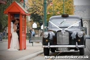 Wedding Car hire firm specialising in London cabs doing big business in Oz