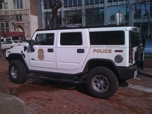 Hummer limo joins police fleet in Indianapolis