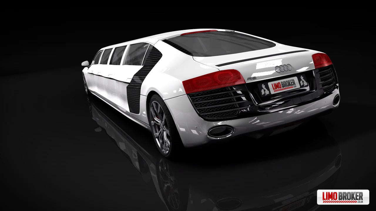 Limo Broker's Audi R8 limousine taking bookings for school proms 2012