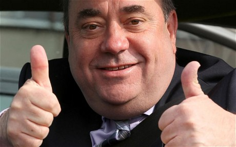 Taxpayers get the £5500 bill for First Minister Alex Salmonds limo rides to London