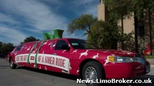 Texas Advertising Firm Uses Limo as Christmas Sleigh to Tackle Drink Driving