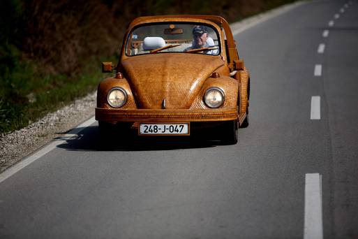 71 Year Old VW Employee Builds Wooden Beetle