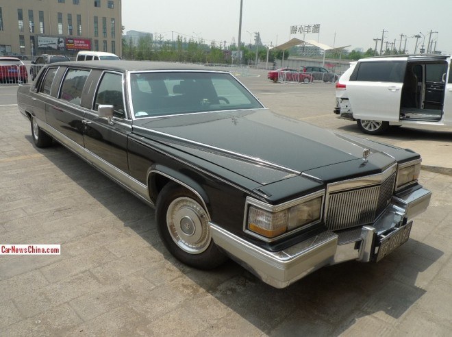 Car Lover Spots Cadillac Brougham Stretched Limo Used as Wedding Car in China