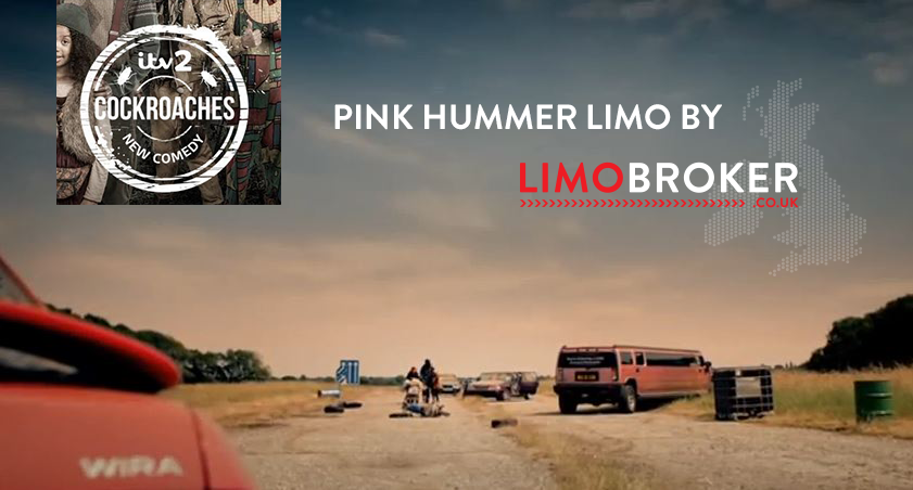 Limo Broker Pink Hummer Limo Featured in ITV2's Cockroaches