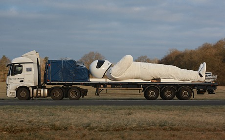 30ft Sculpture of The Stig Used to Advertise BBC Brit