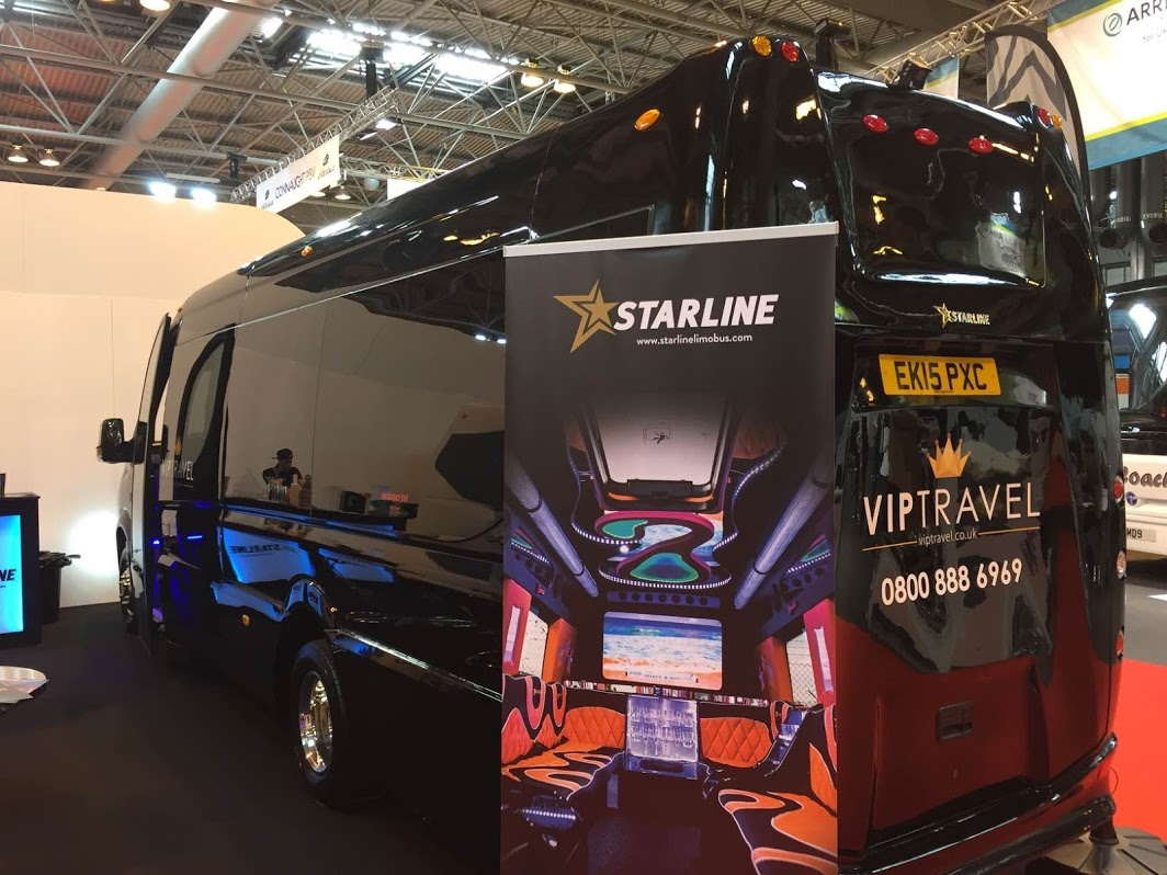 10 Starline Limo Buses Sold at the Coach and Bus Live Show 2015