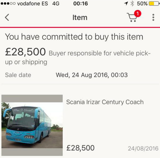 Drunk Brit buys 30k party bus whilst in Ibiza
