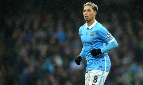 Man City Star Samir Nasri videoed in stretched limo with bags of cannabis