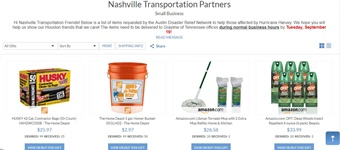Grand Avenue Partners With Nashville Companies For Hurricane Relief